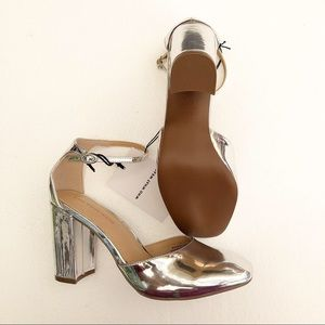 Who What Wear Shoes - Who what wear block silver heel 9 new Juliet shoes